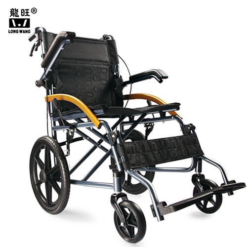 Detachable armrest lightweight folding  portable manual wheelchair