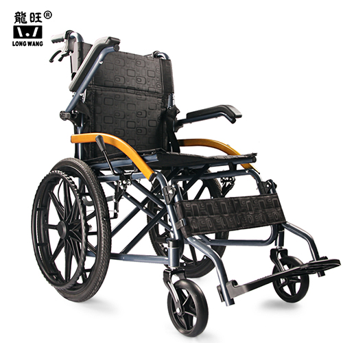 Detachable armrest 20' solid tyre lightweight folding  portable manual wheelchair
