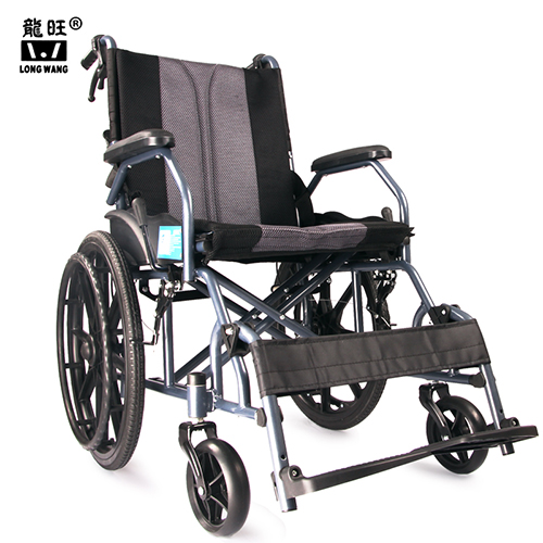 thickened steel tube frame legrest can adjustable lightweight folding  portable manual wheelchair